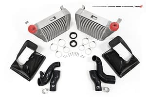 Alpha Porsche Macan Intercooler Kit with Carbon Fiber Shrouds
