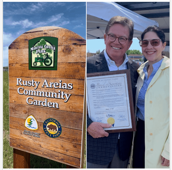 Rusty Areias Community Garden Opened